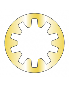 """MS35333-43 / 7/16"""" Mil-Spec Internal Tooth Lock Washers / Steel / Zinc Yellow (Quantity: 2,500 pcs)"""