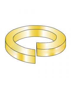 MS51848-7 / #6 Mil-Spec High Collar Split Lock Washers / Steel / Zinc Yellow (Quantity: 10,000 pcs)