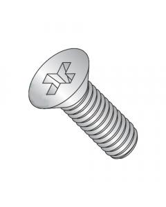 "MS51959-59 / 10-24 x 1/4"" Mil-Spec Machine Screws / Phillips / Flat / 18-8 Stainless Steel / DFAR Compliant (Quantity: 2,000 pcs)"