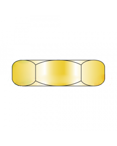 MS51967-18 / 9/16-12 Mil-Spec Finished Hex Nuts / Grade C / Cad Yellow / DFAR Compliant (Quantity: 250 pcs)