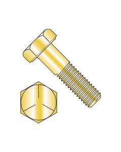 """MS90725-7 / 1/4-20 x 7/8"""" Mil-Spec Hex Cap Screws / Grade 5 / Cadmium Yellow / DFAR Compliant (Quantity: 2,500 pcs)"""