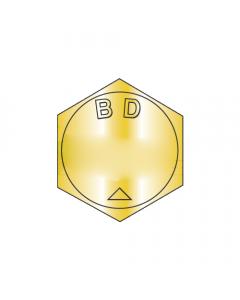 "BH100C600N / 1-8 x 6"" Mil-Spec Hex Cap Screws / Alloy Steel Grade-BD / Zinc Yellow / DFAR Compliant / Supersedes MS 90728 / ASME B18.2.1BH (Quantity: 15 pcs)"