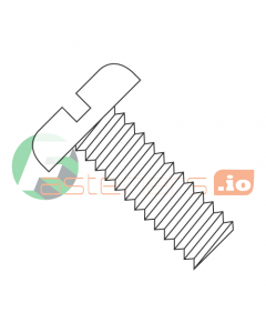 "1-72 x 3/8"" Machine Screws / Slotted / Pan Head / Nylon / Natural (White) (Quantity: 2,500 pcs)"