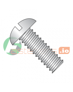 """5/16-18 x 5 1/2"""" Machine Screws / Slotted / Round Head / 18-8 Stainless Steel (Quantity: 100 pcs)"""