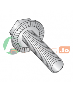 """6-32 x 1/4"""" Serrated Hex Flange Screws / Unslotted / 18-8 Stainless Steel (Quantity: 5,000 pcs)"""