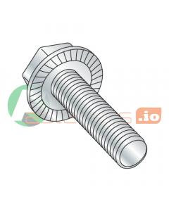 "6-32 x 1/4"" Serrated Hex Flange Screws / Unslotted / Steel / Zinc (Quantity: 10,000 pcs)"