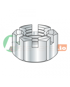 3/8-24 Slotted Hex Nuts / Steel / Zinc (Quantity: 500 pcs)