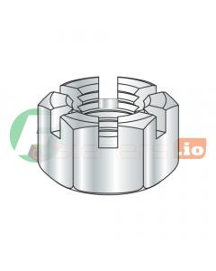 1/2-13 Slotted Hex Nuts / Steel / Zinc (Quantity: 500 pcs)