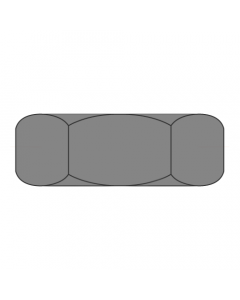 "1-8 Hex Jam Nuts / Steel / Plain / Width Across Flats: 1 1/2"" / Thickness: 27/32"" (Quantity: 250 pcs)"