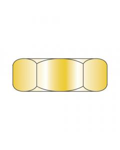 "1-14 Hex Jam Nuts / Steel / Zinc Yellow / Width Across Flats: 1 1/2"" / Thickness: 1/16"" (Quantity: 250 pcs)"
