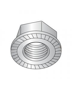 M6-1.00 Hex Flange Locknuts / Serrated / Class 8 / Plain (Quantity: 4000)