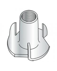 "3/8-16 X 7/16"" 3 Prong Tee Nuts / Steel / Zinc (Quantity: 500 pcs)"
