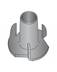 "8-32 X 1/4"" 3 Prong Tee Nuts / Steel / Black Zinc (Quantity: 2,000 pcs)"