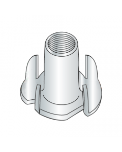 "6-32 X 1/4"" 4 Prong Tee Nuts / Steel / Zinc (Quantity: 2,000 pcs)"