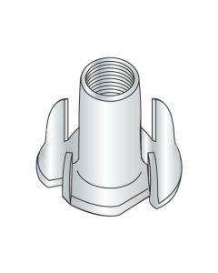"1/4-20 X 5/16"" 4 Prong Tee Nuts / Steel / Zinc (Quantity: 4000 pcs)"