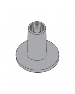 """8-32 Round Base Weld Nuts / No Projections / Steel / Plain / 1/4"""" Barrel Height / 0.718 Base Diameter (Quantity: 1,000 pcs)"""