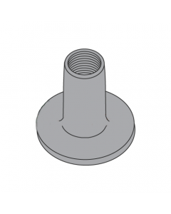 10-32 Round Base Weld Nuts / No Projections / Steel / Plain / 9/32