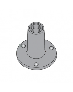 """8-32 Round Base Weld Nuts / 3 Projections / Steel / Plain / 1/4"""" Barrel Height / 0.718 Base Diameter (Quantity: 1,000 pcs)"""