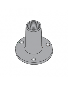 """10-32 Round Base Weld Nuts / 3 Projections / Steel / Plain / 9/32"""" Barrel Height / 3/4"""" Base Diameter (Quantity: 1,000 pcs)"""