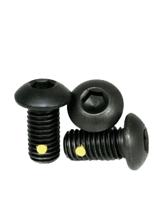 "Nylon Pellet Socket Button Head Cap Screw, 6-32 x 5/8"", Alloy Steel, Black Oxide, Hex Socket (Quantity: 100)"
