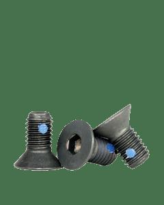 """Nylon Pellet Socket Flat Countersunk Head Cap Screws, 10-32 x 3/8"""", Alloy Steel, Black Oxide, Hex Socket (Quantity: 100)"""