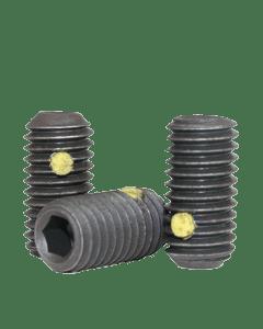 "Nylon Pellet Socet Set Screws Cup Point, 4-40 x 1/4"", Alloy Steel, Black Oxide, Hex Socket (Quantity: 100)"