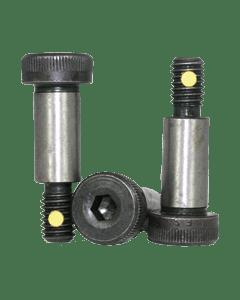 "Nylon Pellet Socket Head Shoulder Screws, 10-24 x 1 1/4"", Alloy Steel, Black Oxide, Hex Socket (Quantity: 25)"