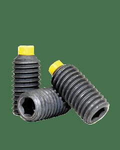 Socket Set Screw, Nylon Tip, M4-0.7 x 5mm, Alloy Steel, Black Oxide, Hex Socket (Quantity: 100)