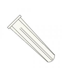 "#10 - #12 x 1"" Long Bantam Plug-Conical Plastic Anchors / Nylon / Blue / For Use With #10 - #12 Screws / Length: 1"" / Drill Size: 1/4"" (Quantity: 5,000 pcs)"