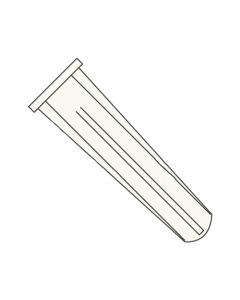 "#14 - #16 x 1 1/2"" Long Bantam Plug-Conical Plastic Anchors / Nylon / Blue / For Use With #14 - #16 Screws / Length: 1 1/2"" / Drill Size: 5/16"" (Quantity: 3,000 pcs)"