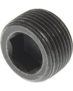 "1/8"" Dry Seal Socket Pipe Plugs / 3/4"" Taper / Steel / Plain (Carton: 100 pcs)"