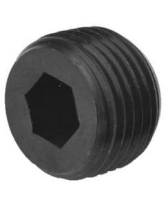 """1/8"""" Flush Seating Socket Pipe Plugs / 7/8"""" Taper / Steel / Plain (Carton: 100 pcs)"""