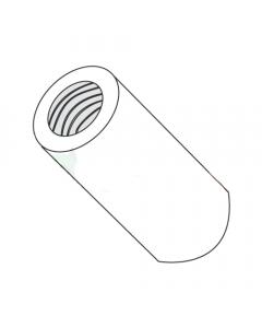 "1/2"" OD Round Standoffs (Female-Female) / 1/4-20 x 1/4"" / Nylon / Outer Diameter: 1/2"" / Thread Size: 1/4-20 / Length: 1/4"" (Quantity: 1,000 pcs)"