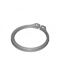 ".562"" External Style Retaining Rings / Steel / Black Phosphate (Quantity: 1,000 pcs)"