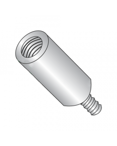 """1/4"""" OD Round Standoffs (Male-Female) / 4-40 x 3/8"""" / Stainless Steel / Outer Diameter: 1/4"""" / Thread Size: 4-40 / Length: 3/8"""" (Quantity: 500 pcs)"""