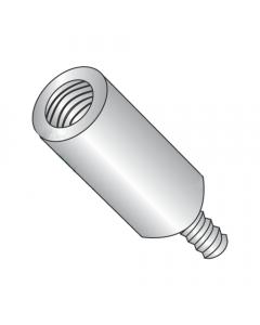 "1/4"" OD Round Standoffs (Male-Female) / 4-40 x 3/8"" / Aluminum / Outer Diameter: 1/4"" / Thread Size: 4-40 / Length: 3/8"" (Quantity: 1,000 pcs)"