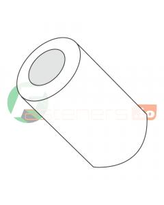 Spacer Round - 0.072 (ID) x 1/8 (OD) x 1/8 (Body Length), Nylon, Natural Finish, (QUANTITY: 1000)