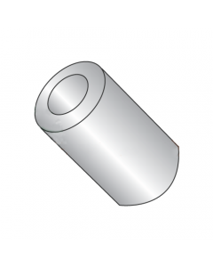 """3/8"""" OD Round Spacers / #6 x 9/16"""" / Stainless Steel / Outer Diameter: 3/8"""" / Hole Size: #6 / Length: 9/16"""" (Quantity: 100 pcs)"""