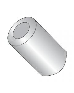 "3/8"" OD Round Spacers / #14 x 1/2"" / Aluminum / Outer Diameter: 3/8"" / Hole Size: 1/4"" (#14) / Length: 1/2"" (Quantity: 1,000 pcs)"