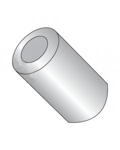 "1/2"" OD Round Spacers / #14 x 1 1/8"" / Aluminum / Outer Diameter: 1/2"" / Hole Size: 1/4"" (#14) / Length: 1 1/8"" (Quantity: 1,000 pcs)"