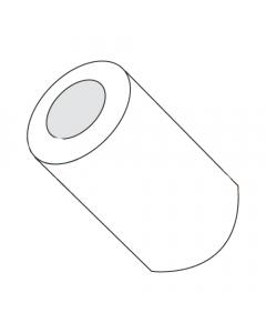 "3/16"" OD Round Spacers / #2 x 1/8"" / Nylon / Outer Diameter: 3/16"" / Hole Size: #2 / Length: 1/8"" (Quantity: 1,000 pcs)"