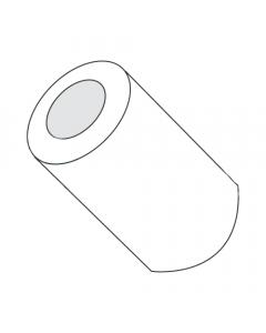 "1/4"" OD Round Spacers / #2 x 1/4"" / Nylon / Outer Diameter: 1/4"" / Hole Size: #2 / Length: 1/4"" (Quantity: 1,000 pcs)"