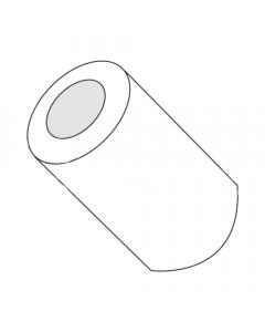 "5/16"" OD Round Spacers / #4 x 1/4"" / Nylon / Outer Diameter: 5/16"" / Hole Size: #4 / Length: 1/4"" (Quantity: 1,000 pcs)"