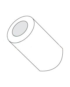 "3/8"" OD Round Spacers / #8 x 1/2"" / Nylon / Outer Diameter: 3/8"" / Hole Size: #8 / Length: 1/2"" (Quantity: 1,000 pcs)"