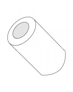 "3/8"" OD Round Spacers / #10 x 1/2"" / Nylon / Outer Diameter: 3/8"" / Hole Size: #10 / Length: 1/2"" (Quantity: 1,000 pcs)"
