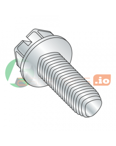 "10-24 x 7/8"" Full Trilobe Thread Forming Screws / Slotted / Hex Washer Head / Steel / Zinc (Quantity: 5,000 pcs)"