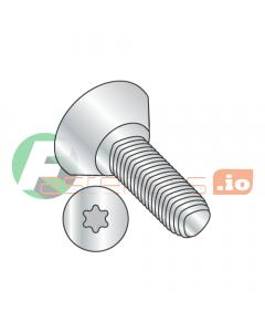 """6-32 x 1/4"""" Full Trilobe Thread Forming Screws / Six-Lobe (Torx) / Flat Undercut Head / Steel / Zinc (Quantity: 10,000 pcs)"""