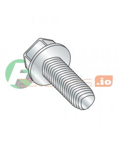 "10-24 x 3/4"" Full Trilobe Thread Forming Screws / Unslotted / Hex Washer Head / Steel / Zinc (Quantity: 6,000 pcs)"