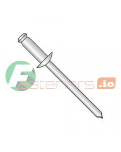 """3/32"""" x .12""""-.25"""" (#34) Standard Blind Rivets / All Steel / Zinc / Barrel Length: .375"""" (Quantity: 10,000 pcs)"""