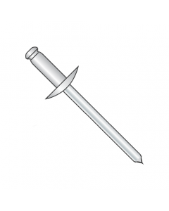 "5/32"" x .02""-.12"" (#52) Large Flange Blind Rivets / Stainless Steel Body / Steel Mandrel / Barrel Length: .300"" (Quantity: 4,000 pcs)"